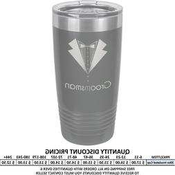 Personalized Gray Stainless Vacuum Insulated Tumblers Custom