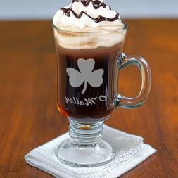 Personalized Irish Coffee Mug, St. Patrick's Day, Glass, 8.5