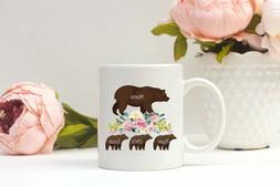 Personalized Mama Bear Mug Funny Mom Mug Cute Coffee Mug Gif
