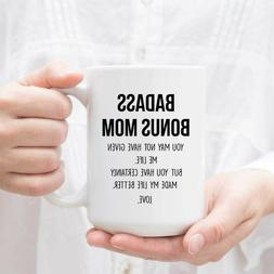 Personalized Mother's Day Gift Mug For Bonus Mom Custom Step