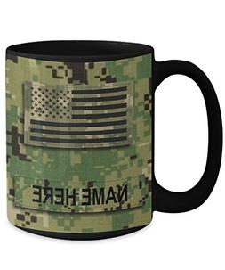 Personalized Navy Coffee Mug - US NAVY Petty Officer 1st Cla