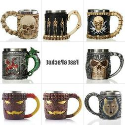 Personalized Skull Mug Double Wall Stainless Steel