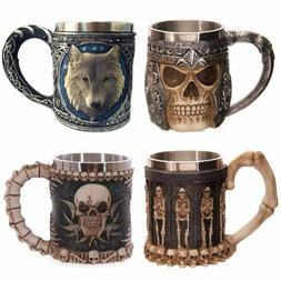 LOULONG® Personalized Skull Mug Double Wall StainlessSteel