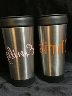 Personalized Stainless Steel Travel Coffee Tea Mug with Push