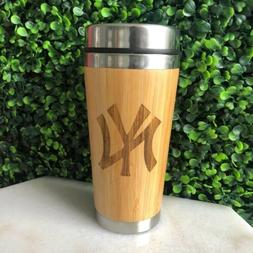 personalized stainless steel Bamboo Coffee, Drinks Tumbler,t