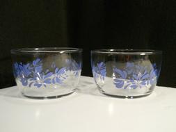 "Pfaltzgraff Yorktowne 4"" Glass Dessert Bowls ~ Libbey Glassw"
