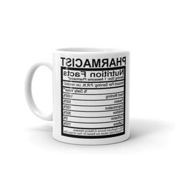 Pharmacist Nutrition Facts Men Women Coffee Tea Ceramic Mug