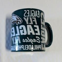Philadelphia Eagles Coffee Mug Fly Eagles Fly Team Color Log