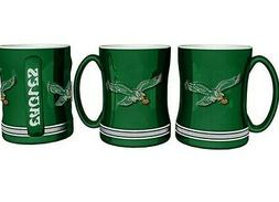 Philadelphia Eagles Coffee Mug Relief Sculpted Team Color Lo