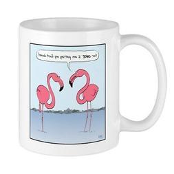 CafePress Pink Flamingos Mug 11 oz Ceramic Mug