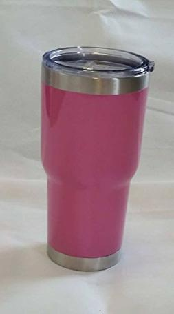 Pink Glitter 30 oz Vacuum-Insulated Double-Walled Powder Coa