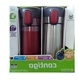 2 pk Contigo Pinnacle Thermal 14 oz Travel Mug Leak Spill Pr