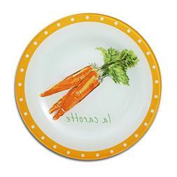 Pfaltzgraff Pistoulet Market La Carotte Glass Accent Plate,