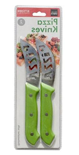 Pizza Knives with Extremely Sharp, Serated Metal Blade, for