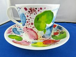 PLANETS FINE BONE CHINA  BREAKFAST CUP SAUCER, ROY KIRKHAM,