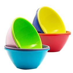 Youngever 32 ounce Plastic Bowls, Large Cereal Bowls, Large