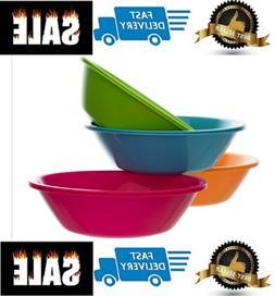 Plastic Cereal Soup Bowls Large 28 Ounce Microwave Safe Set