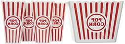 Plastic Popcorn Tubs for Movie Night! - 1 Jumbo Tub and 4 In