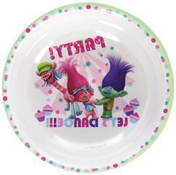 Zak Designs Trolls Movie 6-inch Plastic Kids Bowl, Poppy, Br