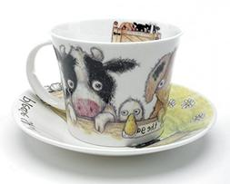 Roy Kirkham Please Shut the Gate 'Farm' Breakfast Cup & Sauc
