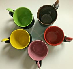 Mug Set of 5, Coffee Cup with Accent Spoon Tea Cups 12 Oz. P
