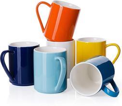 Porcelain Coffee Mug Set 11 Ounce for Coffee Tea, Cocoa and
