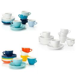 Porcelain Espresso Cups With Saucers 2 Ounce Coffee Cup Kitc