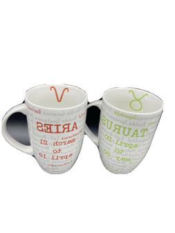 Coventry Porcelain Horoscope Coffee Mug Zodiac Sign Descript