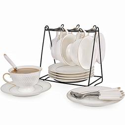 Porcelain Tea Cup and Saucer Coffee Cup Set with Saucer and
