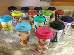 Ciroa Reuse Me Porcelain Travel Mug Double Wall Different Co