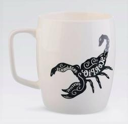 Porcelain Zodiac Sign Large Coffee Mug or Cup 18oz White - G