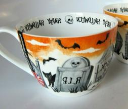 Portobello Halloween Coffee Tea Cup Mug Tombs Witch Black Ca