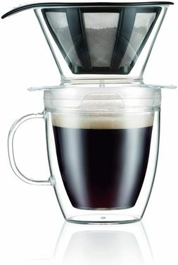 Bodum Pour Over Coffee Dripper Set With Double Wall Mug and