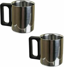 Premium 6 oz Stainless Steel Coffee Mug for Home Camping Tra