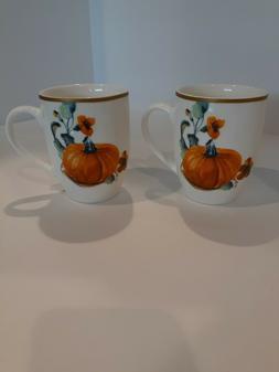 CIROA Pumpkin coffee mug two sided, set of 2
