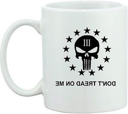 PUNISHER COFFEE MUG 3 PERCENTER 3% TEA DONT TREAD ON ME 2ND