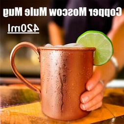 Pure Copper Mug Cup Moscow Mule Coffee Drinking Camping Larg