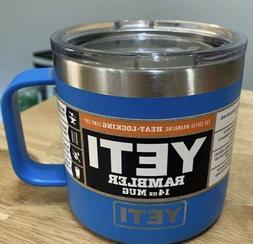 YETI Rambler Coffee Mug 14oz  ~ Tahoe Blue  BRAND NEW DISCON