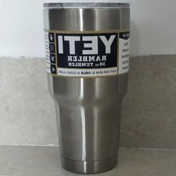 Yeti Rambler Tumbler 30oz Stainless Steel Tumbler Cup with L