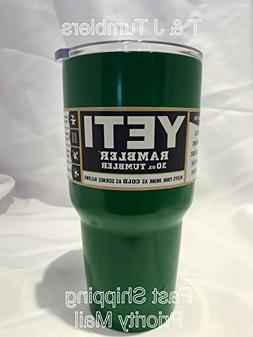 30oz Yeti Rambler Tumbler Stainless Steel Cooler Coffee Cup