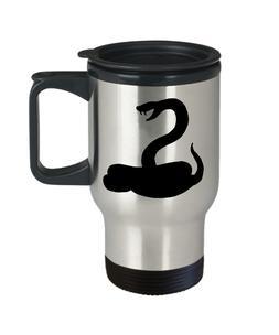 Rattlesnake Coffee Mug Travel Coffee Cup Funny Gift Snake Ra