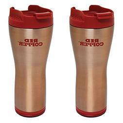 Red Copper Mug 2-Pack by BulbHead, 16 oz. Ceramic-Lined Doub