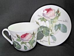 REDOUTE ROSE BREAKFAST CUP SAUCER, Made in England by ROY KI