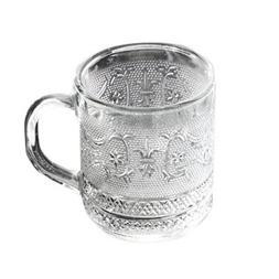 Renaissance Collection 10 Ounce Coffee/Tea Glass Mugs