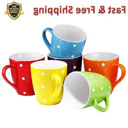 restaurant coffee mugs set of 6 polka