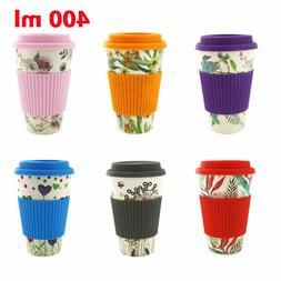 Reusable Bamboo Fiber Coffee Cup Mugs Coffe Travel Mug Drink