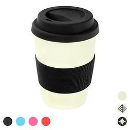 Reusable Coffee Cup Travel Mug Eco Friendly Bamboo Fibre, 35