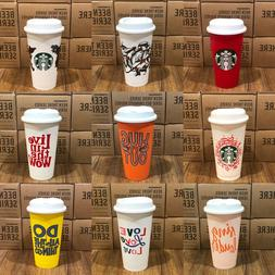 Starbucks Reusable Plastic Grande Coffee/ Tea Cup Tumbler Re