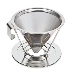 Reusable Pour Over Coffee Filter with Upgraded Cup Stand, Ha