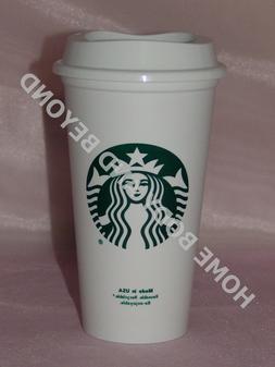 STARBUCKS Reusable Recyclable Grande 16 OZ Plastic Coffee Te